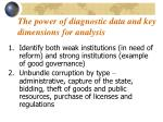 the power of diagnostic data and key dimensions for analysis