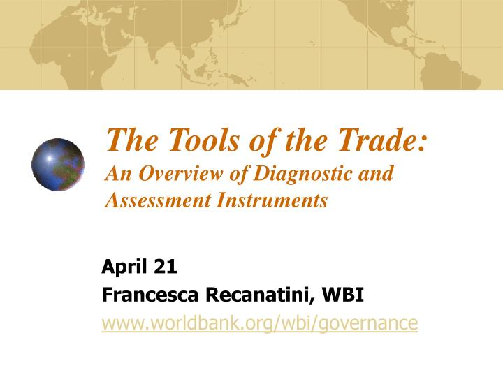 the tools of the trade an overview of diagnostic and assessment instruments n.