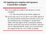 4 0 applying pre emption and openness to particular examples