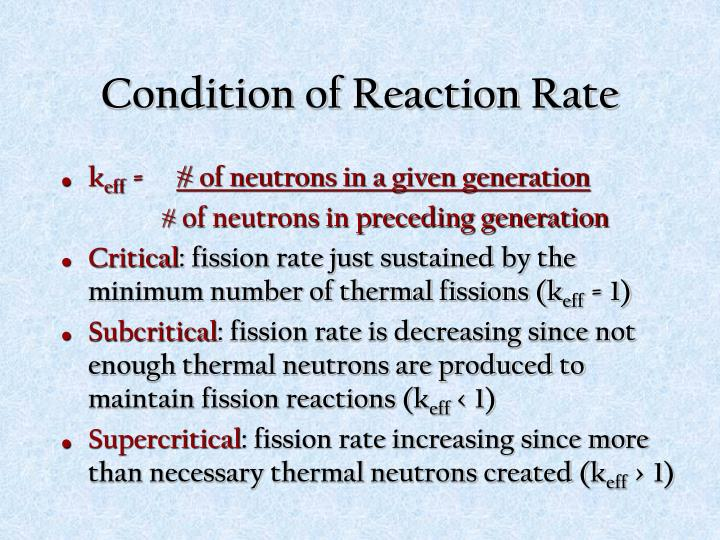 Condition of Reaction Rate