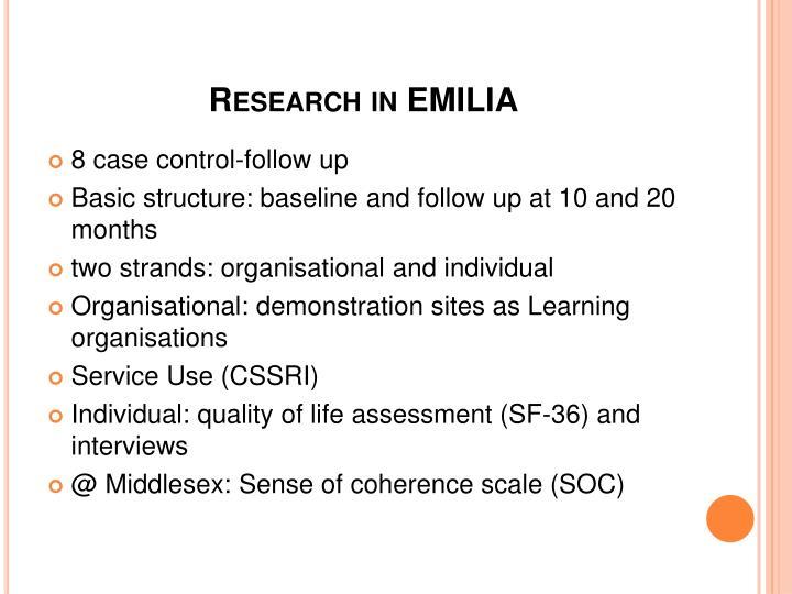 Research in EMILIA