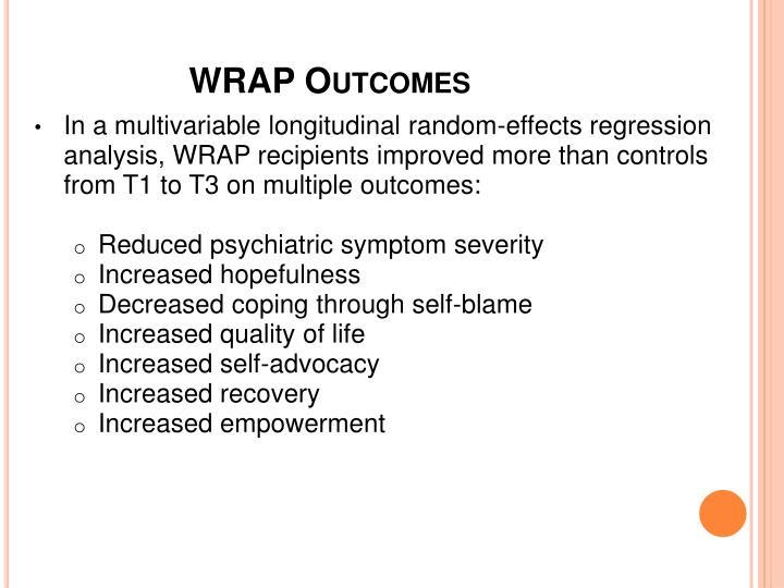 WRAP Outcomes