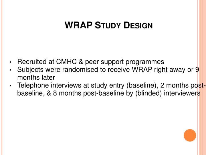 WRAP Study Design