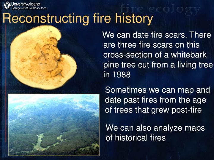 Reconstructing fire history