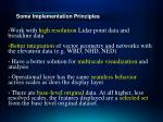 some implementation principles