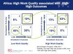 africa high work quality associated with high high outcomes