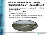 maine air national guard bangor international airport apron retrofit