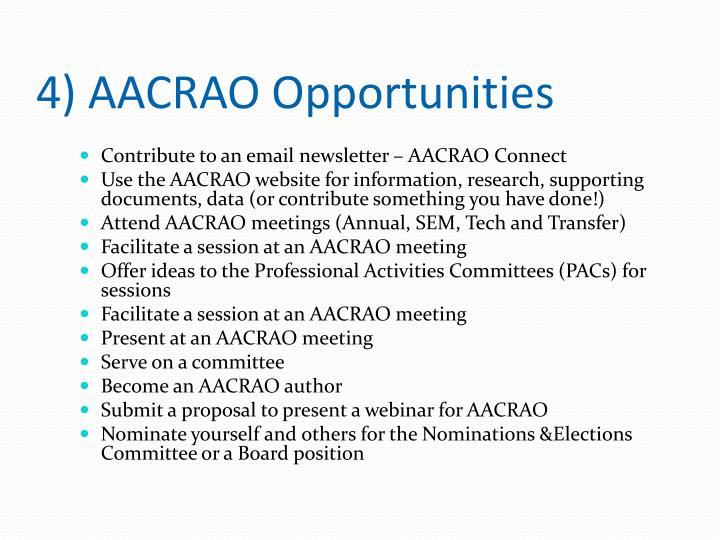 4) AACRAO Opportunities