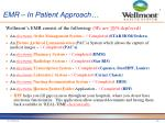 emr in patient approach