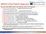 msha in out patient approach