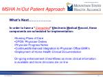 msha in out patient approach1