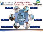 regional out reach programs opportunities