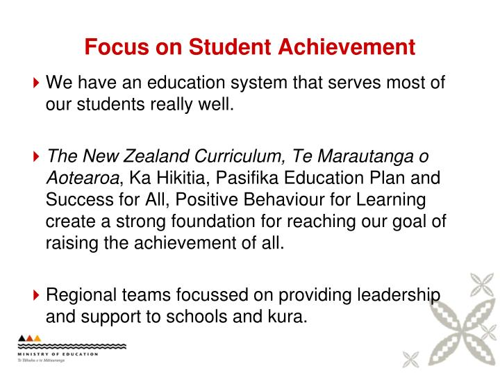 Focus on student achievement