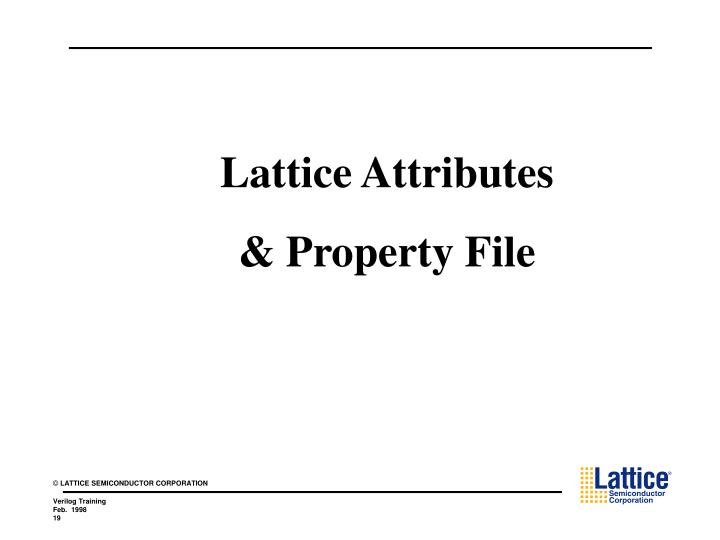 Lattice Attributes