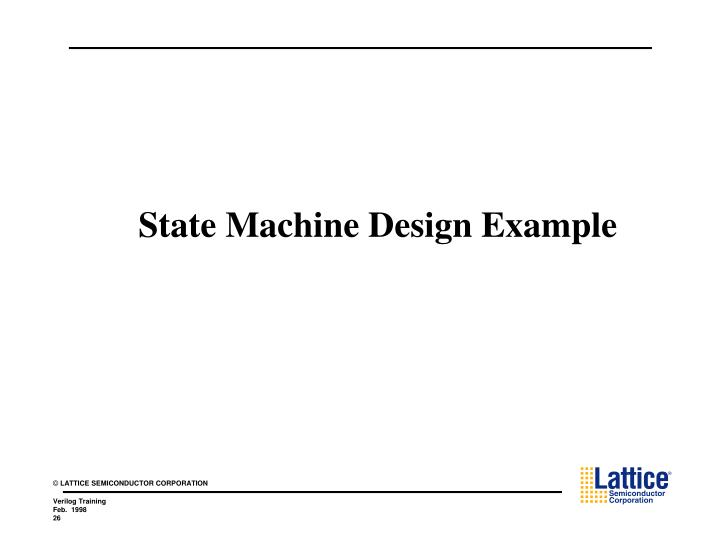 State Machine Design Example