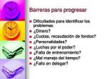 barreras para progresar