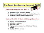 site based baccalaureate access at owcc
