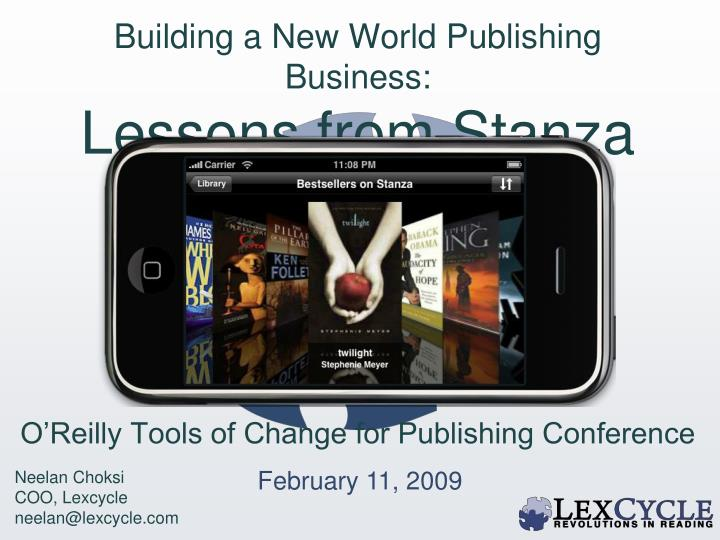 building a new world publishing business lessons from stanza