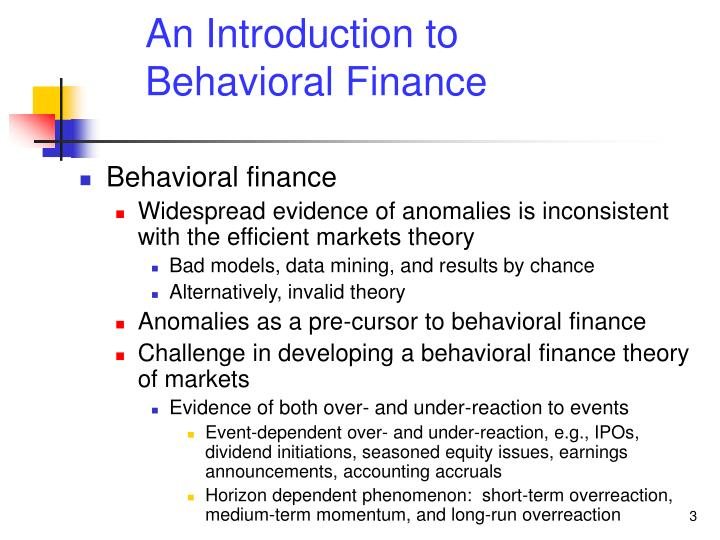 An introduction to behavioral finance2