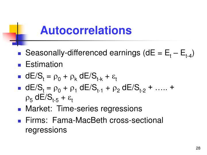 Autocorrelations