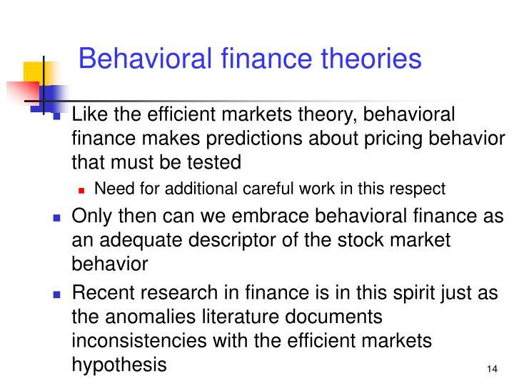 Behavioral finance theories