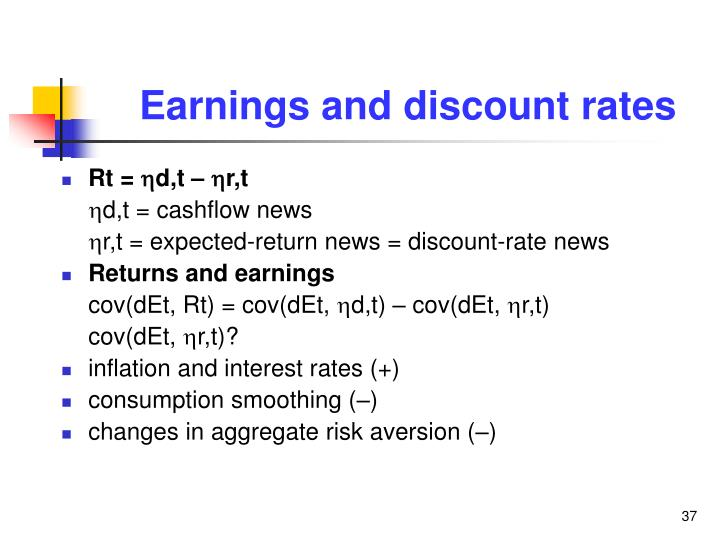 Earnings and discount rates