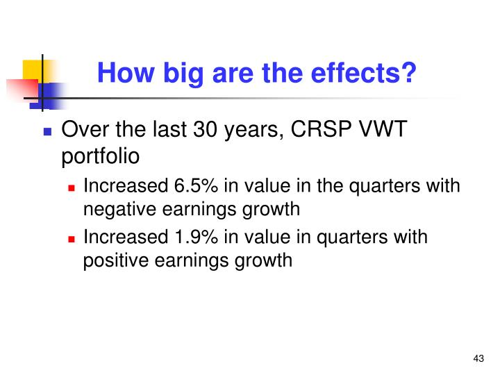 How big are the effects?