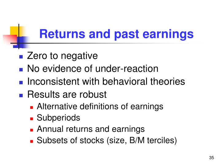 Returns and past earnings