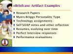 ebriefcase artifact examples