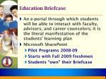 education briefcase