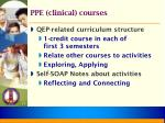 ppe clinical courses