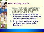 qep learning goal 1