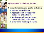 qep related activities in hia