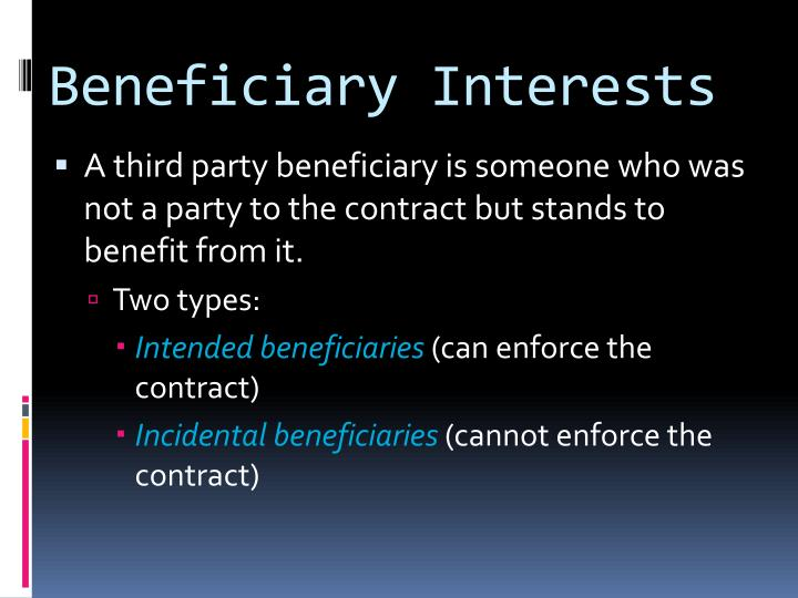 Beneficiary Interests
