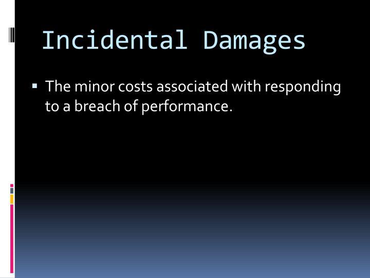 Incidental Damages