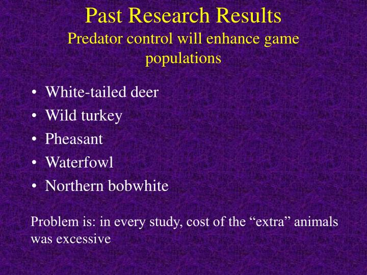 Past Research Results