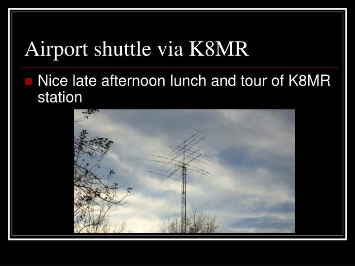 Airport shuttle via K8MR