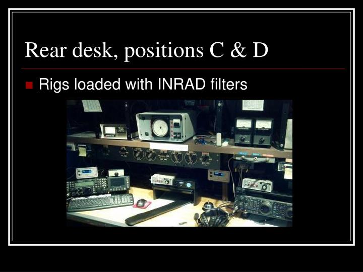 Rear desk, positions C & D