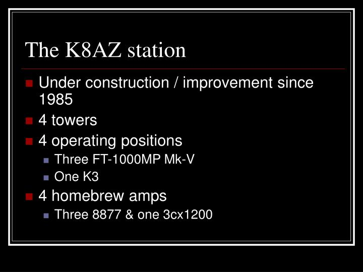 The K8AZ station