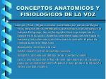 conceptos anatomicos y fisiologicos de la voz