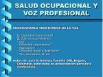 salud ocupacional y voz profesional17