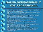 salud ocupacional y voz profesional19