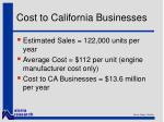 cost to california businesses