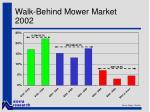 walk behind mower market 2002