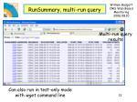 runsummary multi run query