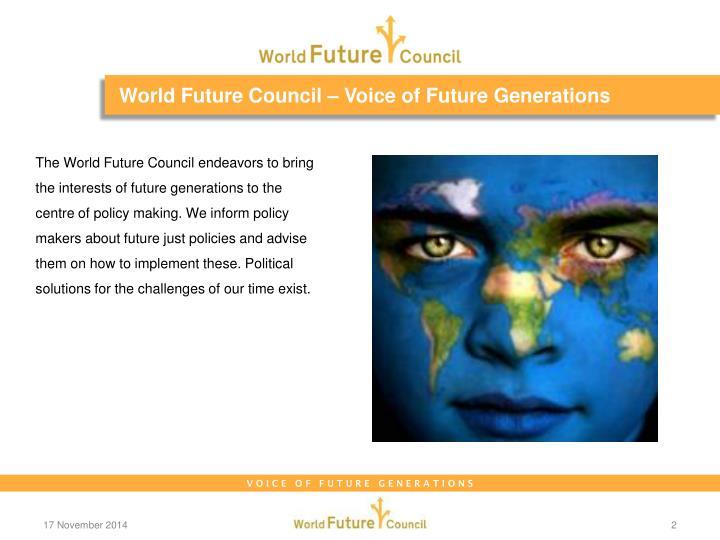 World future council voice of future generations