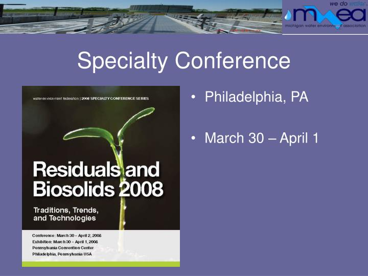Specialty Conference