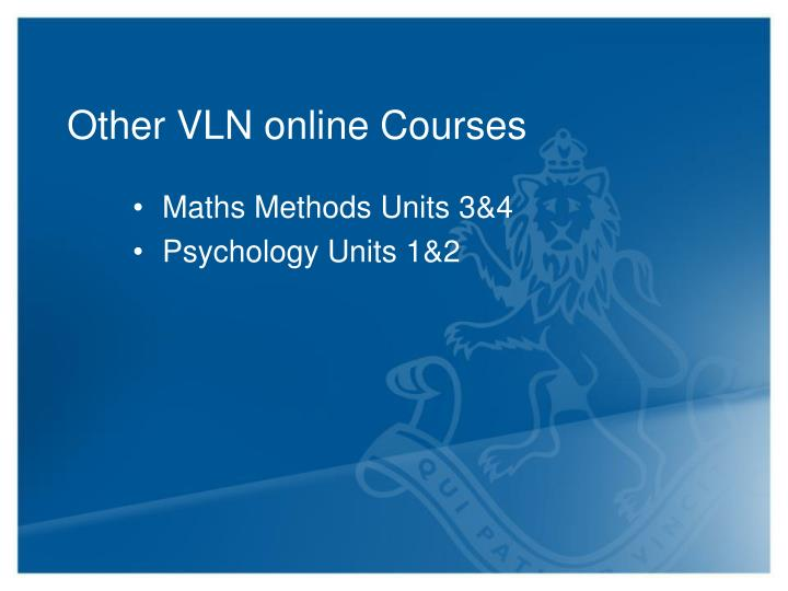 Other VLN online Courses