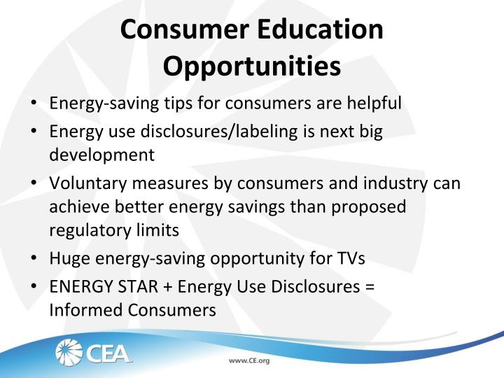 Consumer Education Opportunities