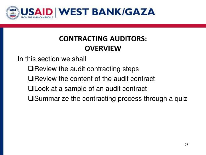 CONTRACTING AUDITORS: